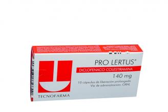 Pro Lertus 140 mg Caja Con 10 Cápsulas Rx4