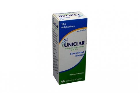 Uniclar Spray Nasal Acuoso 0.05% Caja Con Frasco Con 10 g Rx