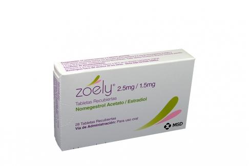 Zoely 2.5 / 1.5 mg Caja Con 28 Tabletas Recubiertas Rx
