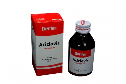Aciclovir 100 mg/ 5 mL Caja Con Frasco X 90 mL Rx