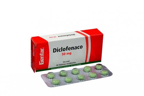 Diclofenaco 50 mg Caja Con 30 Tabletas Rx
