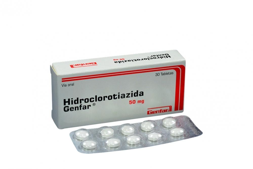 Hidroclorotiazida Genfar 50 Mg Caja Con 30 Tabletas Rx