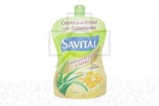 Crema Para Peinar Savital Vida Y Crecimiento Sabila Frasco Con 95 mL