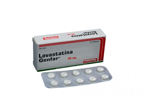 Lovastatina 20 mg Caja Con 10 Tabletas Rx