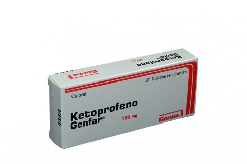Ketoprofeno 100 mg Caja Con 30 Tabletas Rx