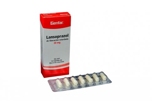 Lansoprazol 30 mg Caja Con 14 Cápsulas De Liberación Retardada Rx