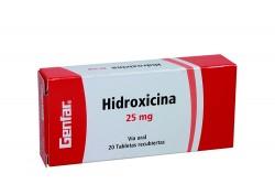Hidroxicina 25 mg Caja Con 20 Tabletas Recubiertas Rx