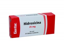 Hidroxicina Genfar 25 Mg Caja Con 20 Tabletas Recubiertas Rx