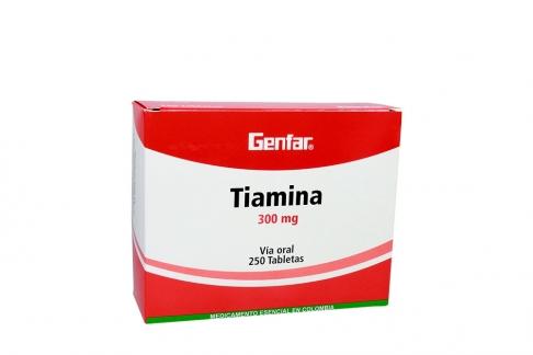 Tiamina 300 mg Caja Con 250 Tabletas Rx