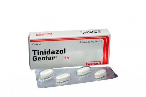 Tinidazol 1 g Caja Con 4 Tabletas Recubiertas Rx2
