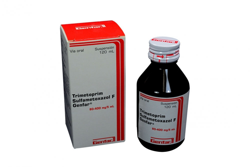 Trimetiprim Sulfametoxazol F Suspensión Caja Con Frasco Con 120 mL Rx2