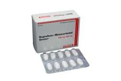 Ibuprofeno +Metocarbamol 200/500 mg Caja X 30 Tabletas Recubiertas Rx
