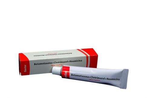 Betametasona + Clotrimazol + Neomicina Caja Con Tubo X 20 g Rx2