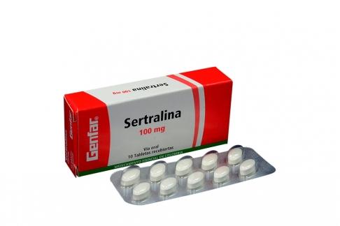 Sertralina 100 mg Caja Con 10 Tabletas Recubiertas Rx4