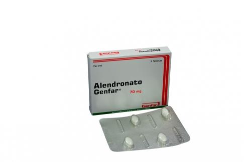 Alendronato 70 Mg Caja X 4 Tabletas Rx