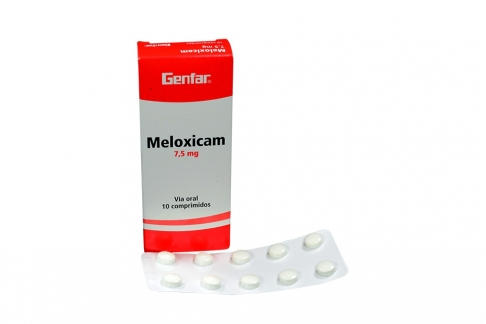 Meloxicam 7.5 mg Genfar Caja Con 10 Tabletas Rx