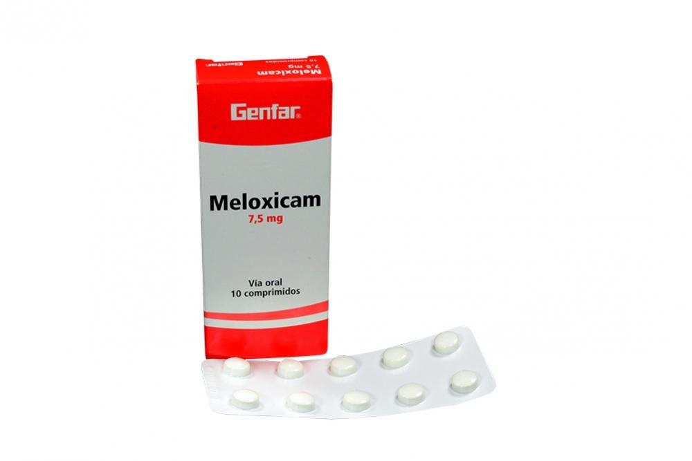 Meloxicam 7.5 mg Caja Con 10 Comprimidos Rx