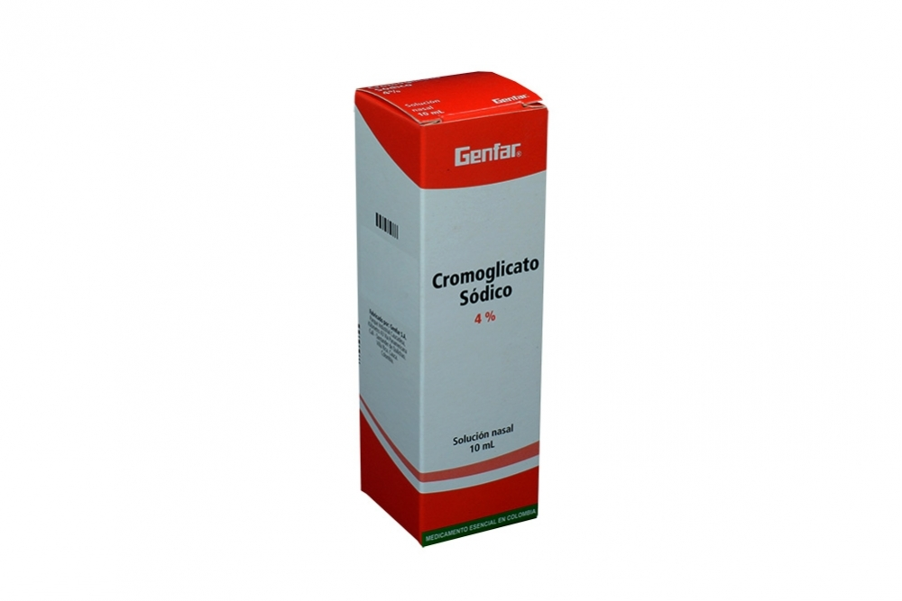 Cromoglicato Sodico Genfar 4% Caja Con Frasco Con 10 mL Rx