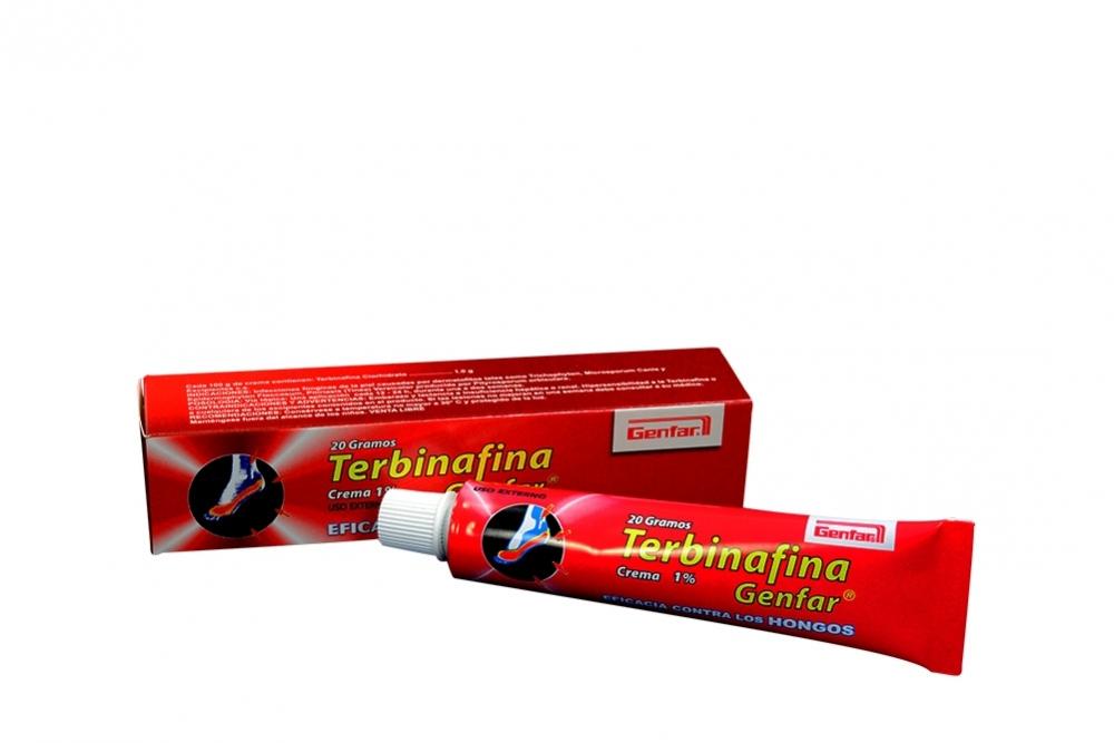 Terbinafina Crema 1% Caja Con Tubo Con 20 g