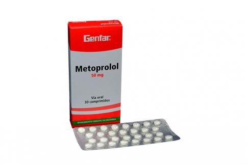 Metoprolol 50 mg Caja Con 30 Tabletas Recubiertas Rx
