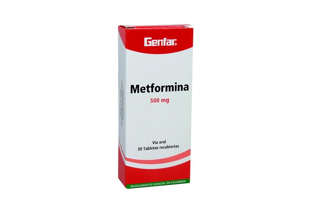 Metformina 500 mg Caja Con 30 Tabletas Rx4