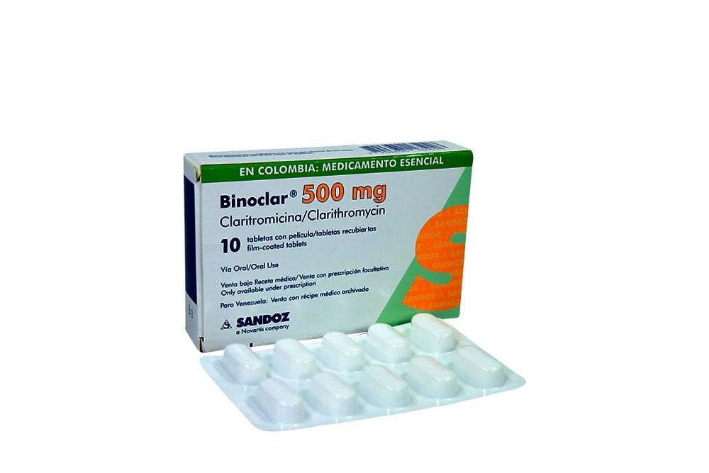 Comprar Binoclar 500 Mg Caja 10 Tabletas En Farmalisto Colombia