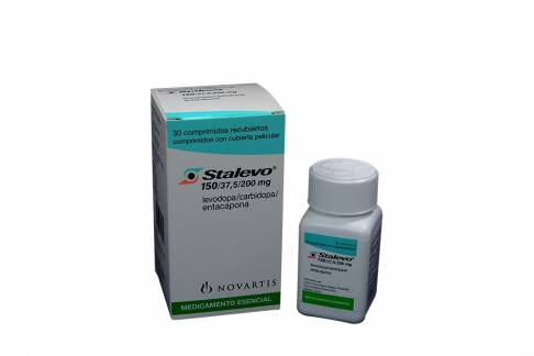Stalevo 150/ 37.5/ 200 mg Caja Con Frasco Con 30 Comprimidos Rx4
