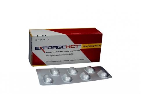 Exforge HCT 10 / 160 / 12.5 mg Caja Con 28 Comprimidos Con Cubierta Pelicular Rx
