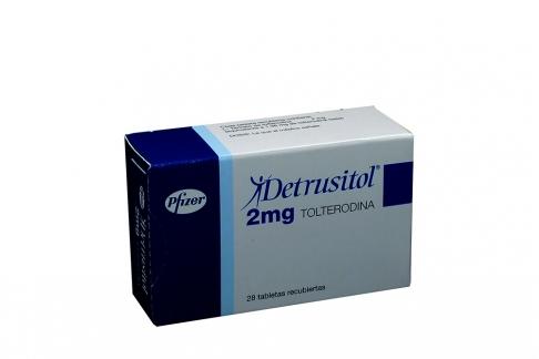 Detrusitol 2 mg Caja Con 28 Tabletas Recubiertas Rx4 Rx1
