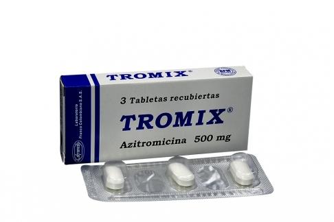 Tromix 500 mg Caja Con 3 Tabletas Recubiertas Rx