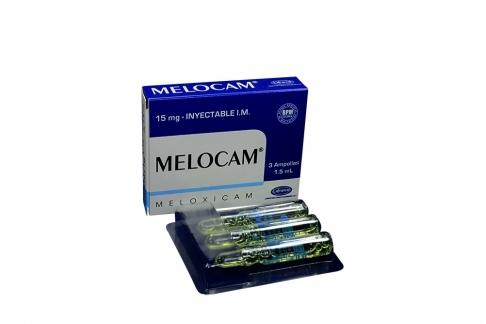 Melocam Solución Inyectable 15 mg Caja Con 3 Ampollas Con 1.5 mL Rx