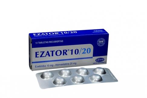 Ezator 10 / 20 mg Caja Con 14 Tabletas Recubiertas Rx