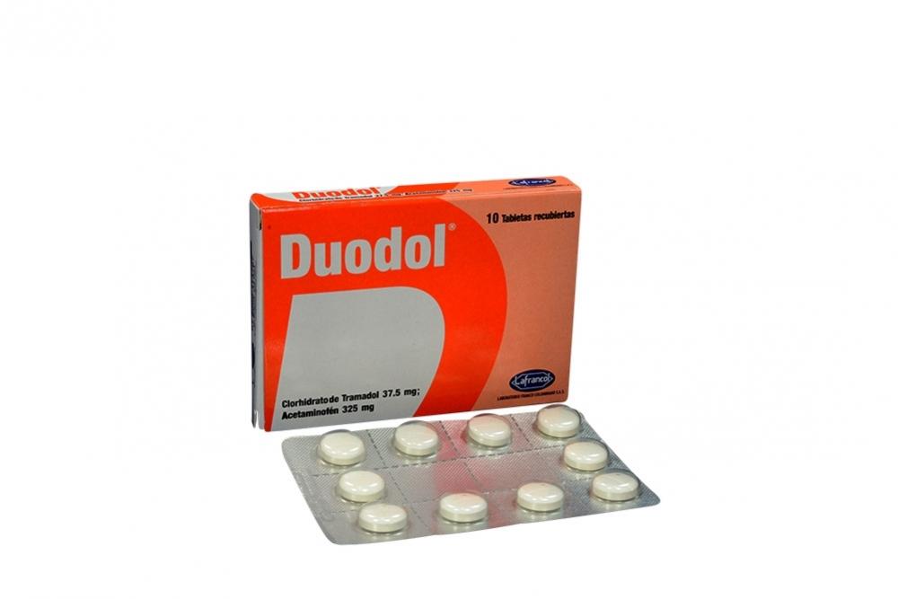 Duodol 37.5 / 325 mg Caja Con 10 Tabletas Recubiertas Rx