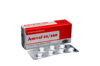 Amval 10 / 160 mg Caja Con 28 Tabletas Rx