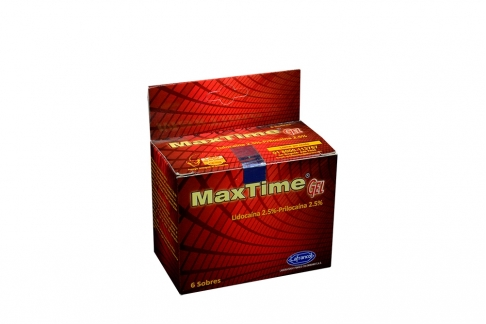 Maxtime Gel Caja x 6 Sobres Lidocaína
