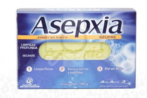 Asepxia Jabón Caja Con Barra Con 100 g - Azufre