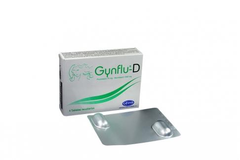 Gynflu–D 75 mg / 1000 mg Caja X 4 Tabletas Recubiertas Rx