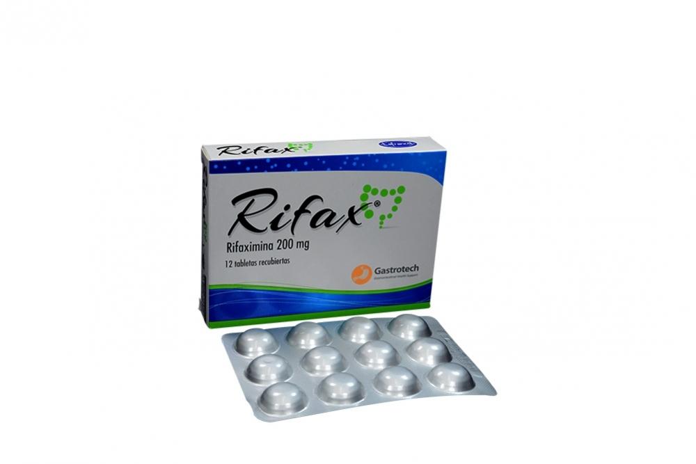 Rifax 200 mg Caja X 12 Tabletas Recubiertas Rx2