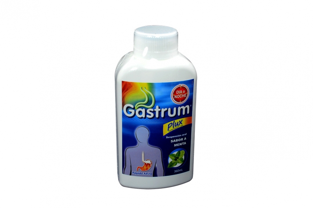 Gastrum Plux 10 mg Suspensión Frasco Con 360 mL - Sabor Menta