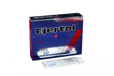 Ejertol 50 mg Caja X 2 Tabletas Recubiertas Rx