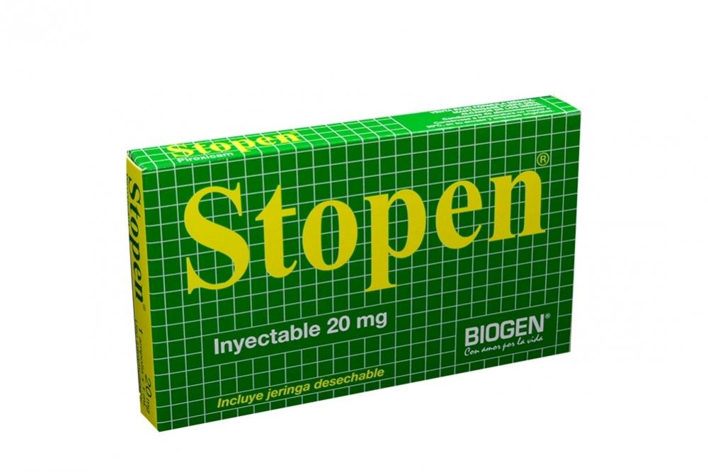 Stopen Inyectable 20 mg / 1 mL Caja Con Una Jeringa Rx