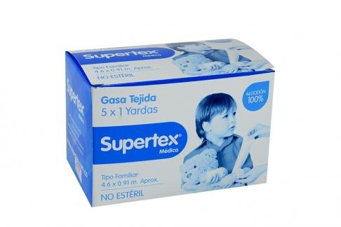 Gasa Supertex 5x1 Yardas Caja x 1 Unidad