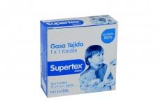 Supertex Gasa Tejida No Estéril Caja Con 1 Unidad Con 1 x 1 Yardas