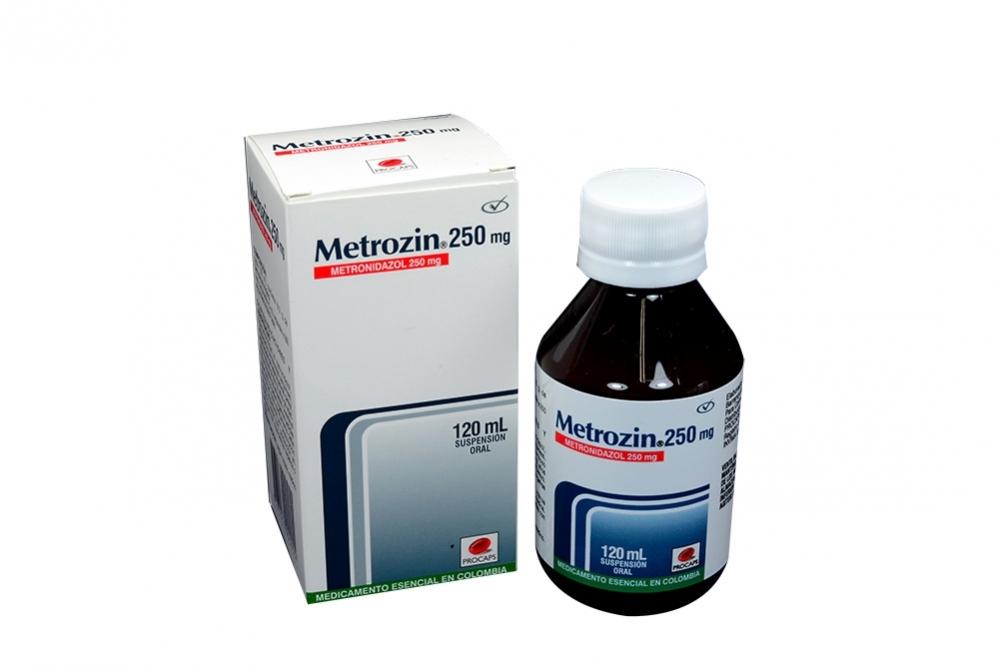 Metrozin 250 mg Suspensión Oral Caja Con Frasco Con 120 mL Rx2