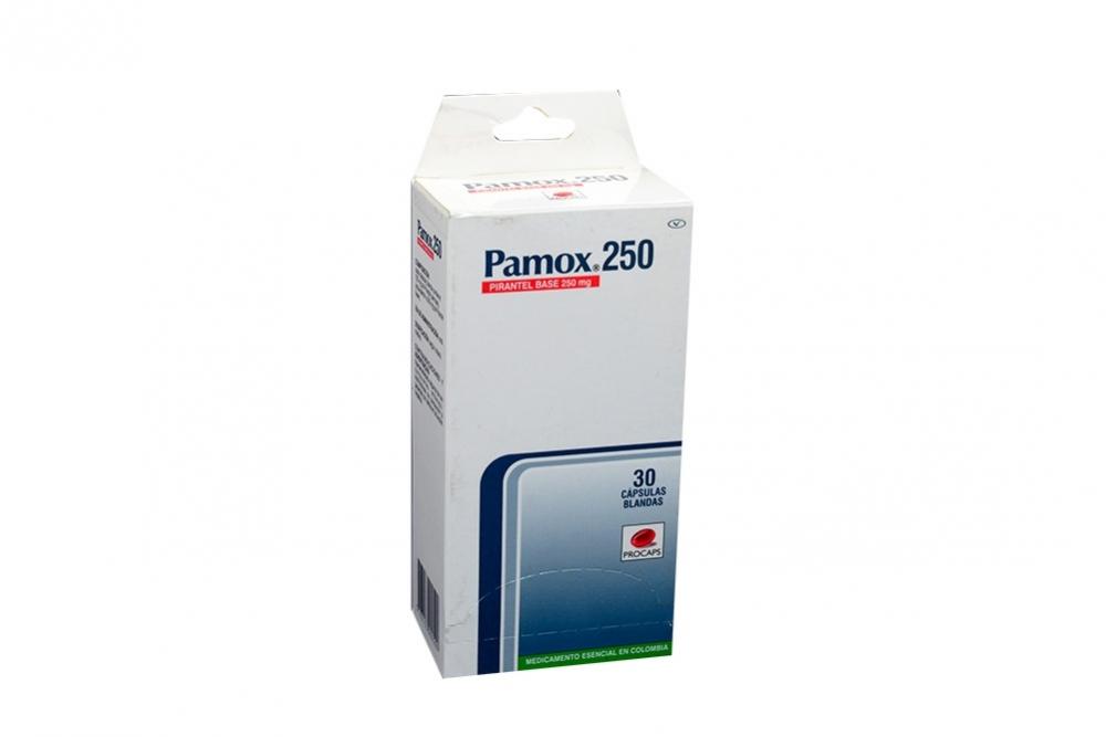 Pamox 250 mg Caja Con 30 Cápsulas Blandas Rx