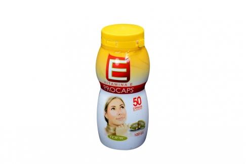 Vitamina E 100 UI Frasco Con 50 Cápsulas Blandas