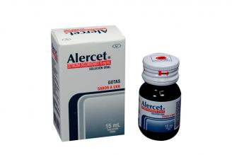 Alercet 10 mg Gotas Caja Con Frasco Con 15 mL - Sabor A Uva