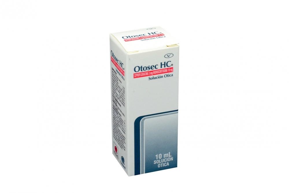 Otosec Hc Solución Ótica Caja Con Frasco x 10 mL Rx