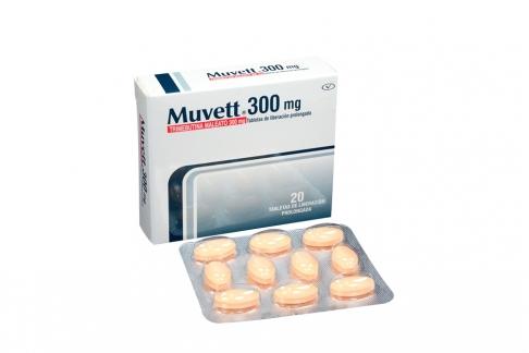 Muvett 300 mg Caja Con 20 Tabletas De Liberación Prolongada Rx
