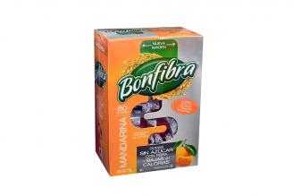 Bonfibra Sin Azúcar Sabor Mandarina Caja Con 60 Gomas